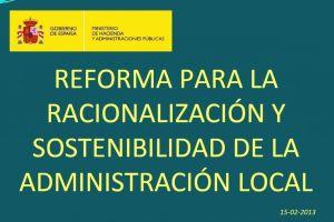Y al final vió la luz … Texto de la Reforma Local