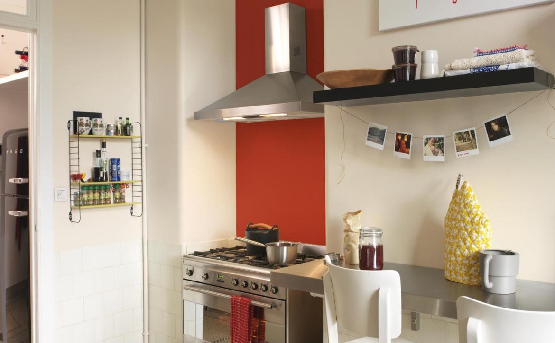 Cocina con toque rojo Alba