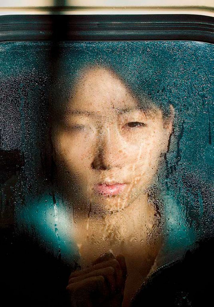 Imagen de Michael Wolf en Getxophoto. Mujer en el metro.
