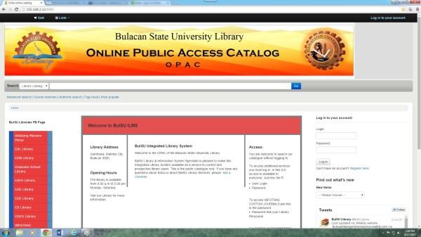 BULSU Online Public Access Catalog