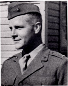 "Alexander ""Sandy"" Bonnyman, taken during basic training in San Diego in July 1942."