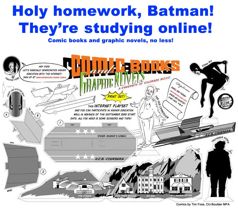 Holy homework, Batman! College credit for comics online!