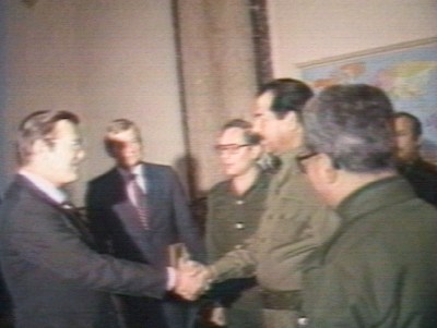 Donald Rumsfeld Meets Saddam Hussein In 1983