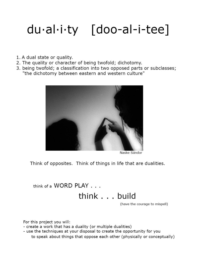 Duality Project handout