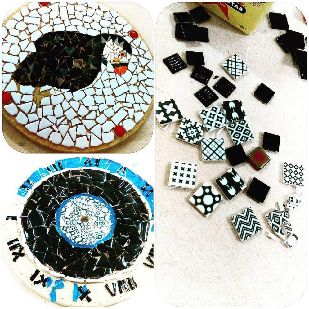 Mosaic Clock workshop at ClayMotion, ballarat Victoria