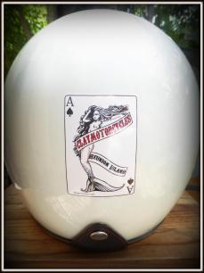 casque sirène sticker claymotorcycles Réunion
