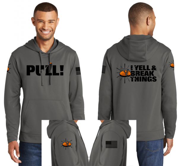 Awesome Clay Shooting Performance Hoodie - Trap Shooting Sweatshirt