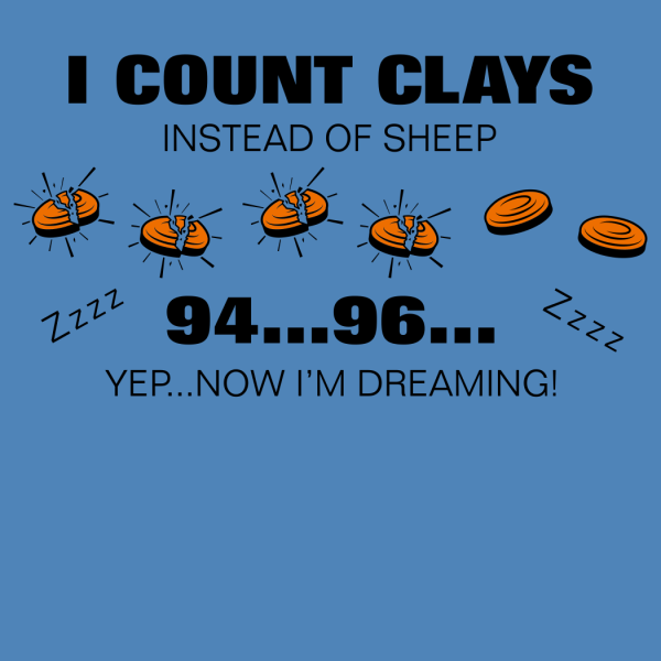Ladies Clay Shooting Night Shirt - Counting Clays Sleep Shirt Nightgown