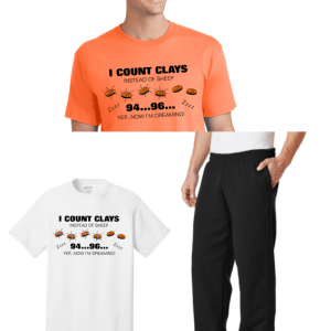 Men's Clay Shooting Lounge Set - Counting Clays Sleep Shirt & Sweatpants