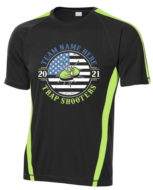 Custom Team Apparel Performance Shirts - Trap Shooting Team Wear Custom Design