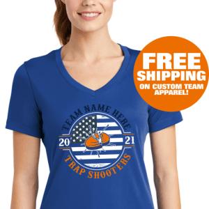 Ladies Custom Performance Shirts - Trap Shooting Team Wear Custom Design