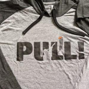 Lightweight Long Sleeve Hooded T Shirt - PULL! - I YELL & BREAK THINGS