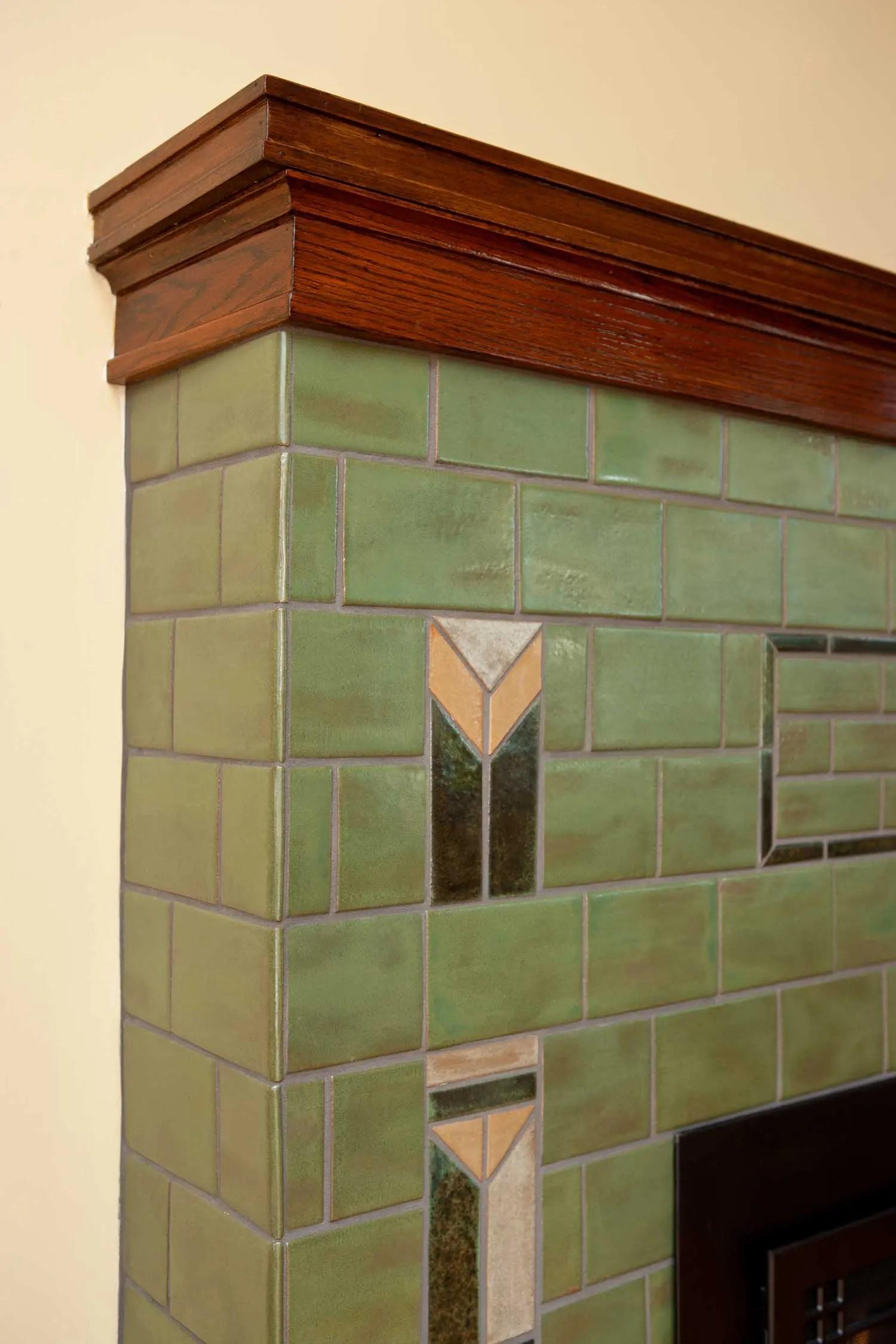 prairie arts crafts fireplace