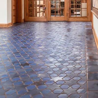 floor tile gallery mosaic hexagon