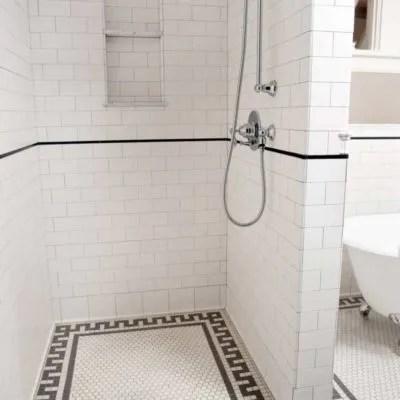 classic flat edge subway hexagon tile