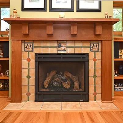 Fireplace Architectural Tile Handmade Vintage Historic Tile