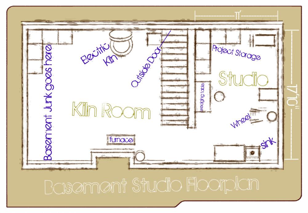 Studio floor plan claystudio for Studio plan
