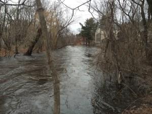 Assabet river flooding it's banks