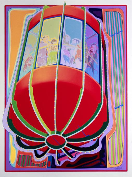 Observation Elevator commission painting by Clayton Pond