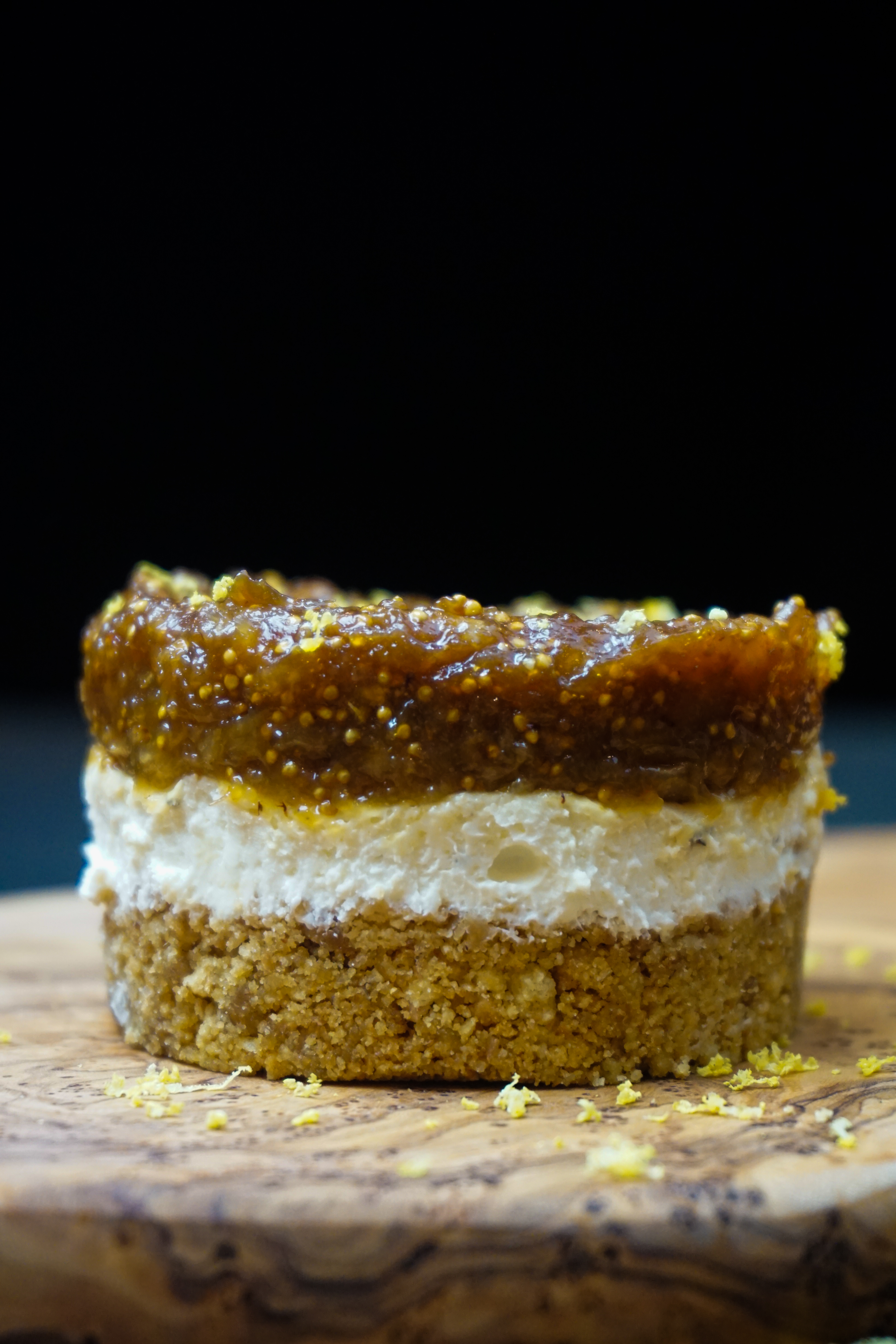 Goat's Cheese and Honey'd Fig Cheesecake