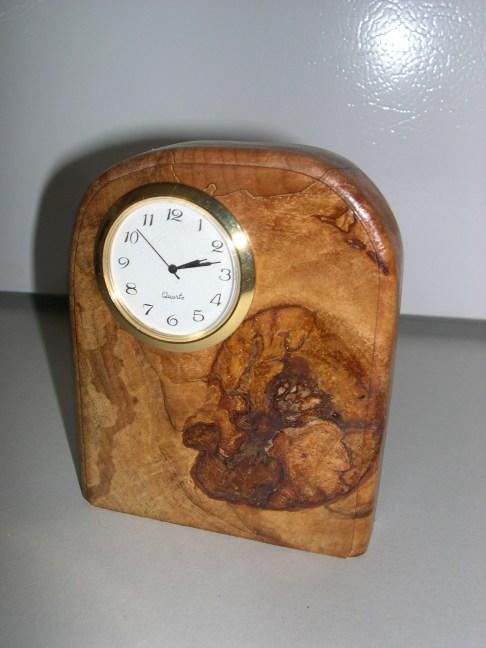 Wood Burl Clock