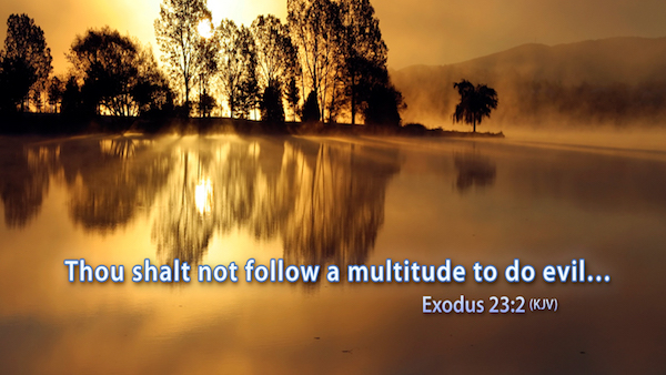 Knowing JESUS - Thou shalt not follow a multitude to do evil - Exodus 23:2