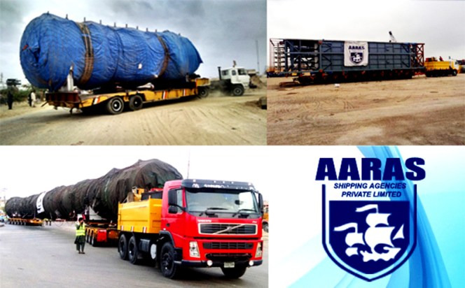 Aaras Shipping Agencies recently handled project cargo for