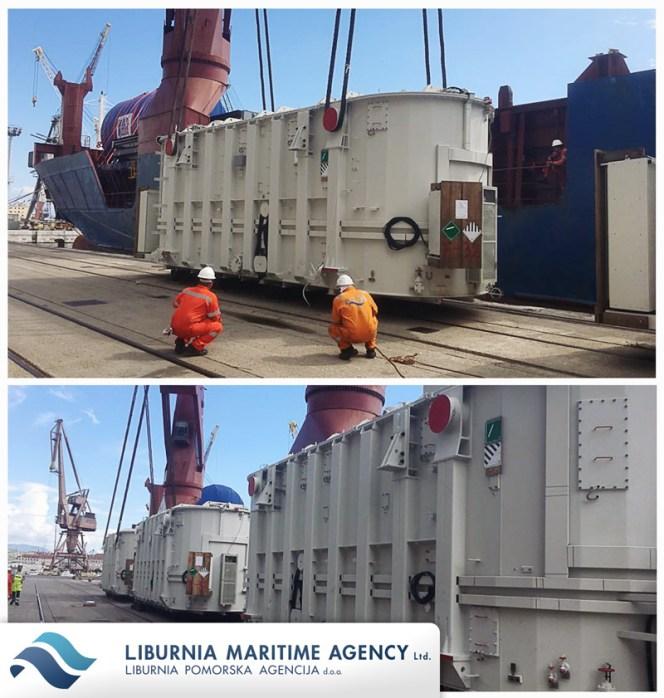 Liburnia Maritime Agency loaded 3 x 190mt transformers in Rijeka for Doha