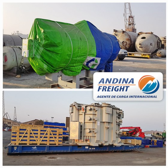 Andina Freight Handled Medium Voltage Transformers for a Substation in Peru