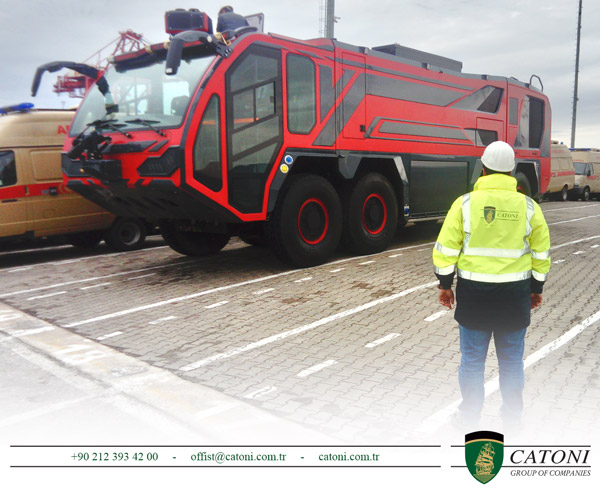 Catoni Group shipped fire fighting vehicle from Turkey to UAE