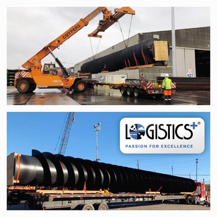 Logistics Plus shipped 2 Pump Screws from Belgium to USA