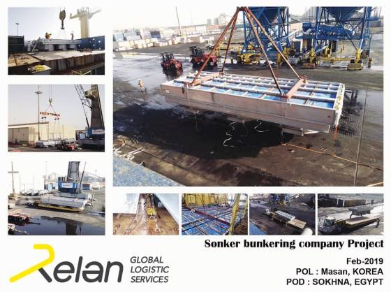 Relan Global Logistics Egypt Recently Handled a Project for Sonker Bunkering Company from Masan, South Korea to Sokhna, Egypt