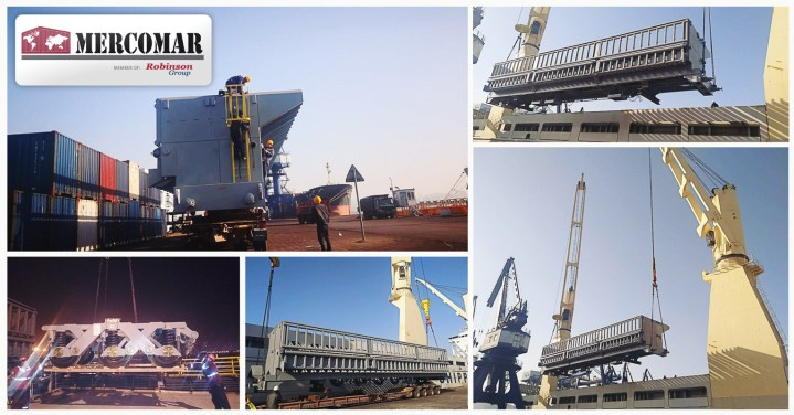 Mercomar handled 653cbm of breakbulk cargo from Dalian China arriving Zarate Argentina