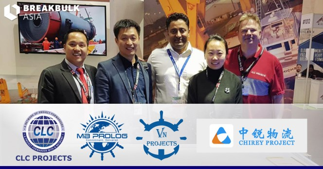 Bo           Drewsen meeting with MB Prolog, VN Projects and Chirey Project           at Breakbulk Asia