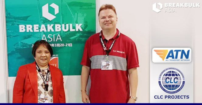 Mary           Lou Estrada of ATN Philippines met with Bo at Breakbulk Asia