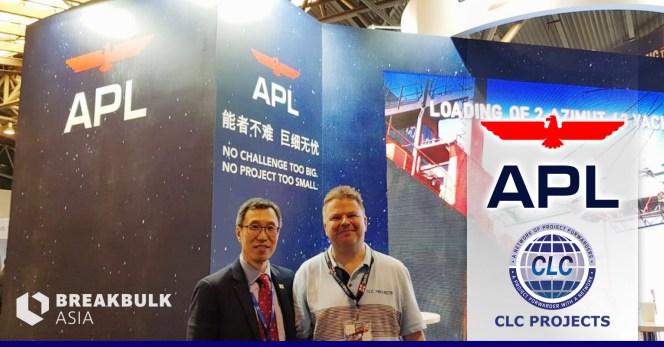 Bo           visiting APL at Breakbulk Asia