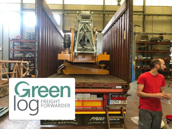 Greenlog Uruguay Loaded a Crane From Valencia to Montevideo 3 X 40 OT