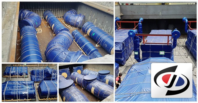 Shin-Jo Logitech Loaded Project Cargo on a Full Charter Basis from Inchon Port to Tianjin