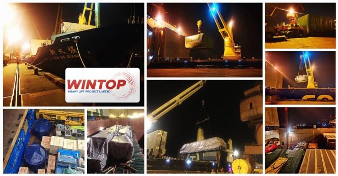 Shipments Handled by Wintop Heavy Lift from Shanghai to Chennai, India & Diliskelesi, Turkey