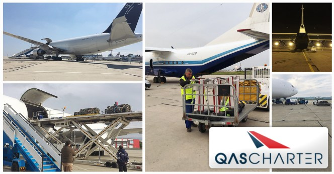 QAS Air Charter Recently Finished a Series of Flights from Europe to Central Africa Operating 6 Back to Back Flights via AN-12 and B767F