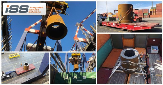 ISS Global Forwarding Spa Loaded Breakbulk Cargo at Livorno Port on Hapag Lloyd Service to Central America