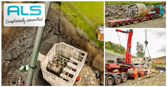 ALS Moved a Tunnel Boring Machine (TBM) from Bleddfa in Wales to Germany