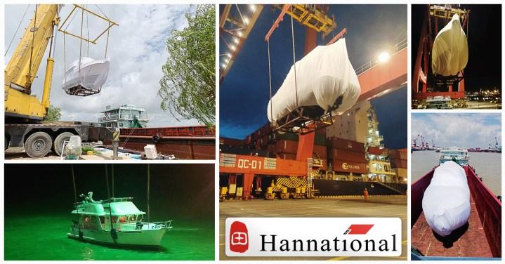 Hannational Shipping Co. Ltd. Handled One 42' yacht ex-Guangzhou to Malaysia