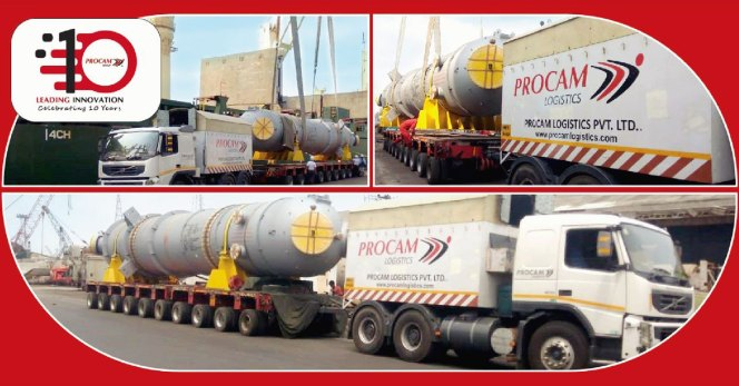 Procam Logistics Efficiently Handles & Transports Combined Feed Exchanger