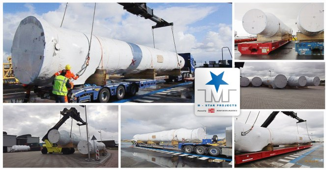 M-Star Projects Transports Exhaust Gas Silencers from Germany to Sohar Oman