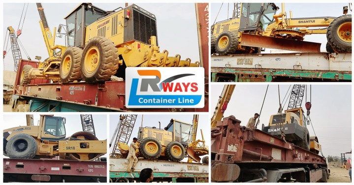 Rways Container Line Shipped 4 x 40'FR Out of Gauge Cargo from Karachi to Umm Qasr, Iraq