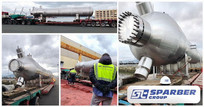 Sparber Moved 14m Long Pressure Vessels Weighing 80mt each