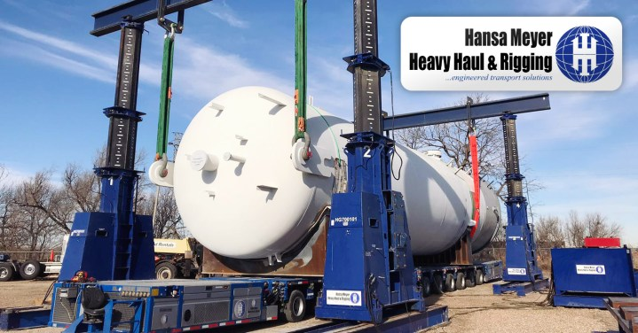 Hansa Meyer Heavy Haul & Rigging Handled a 479,000 lbs Amine Contact Vessel