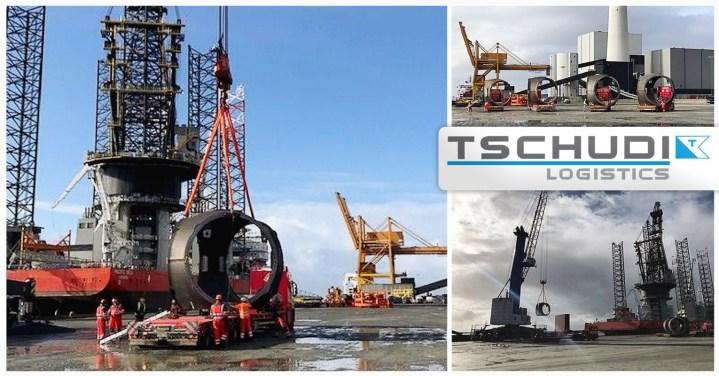 Tschudi Logistics Full Logistical Setup for Transport of Parts for Wind Turbines