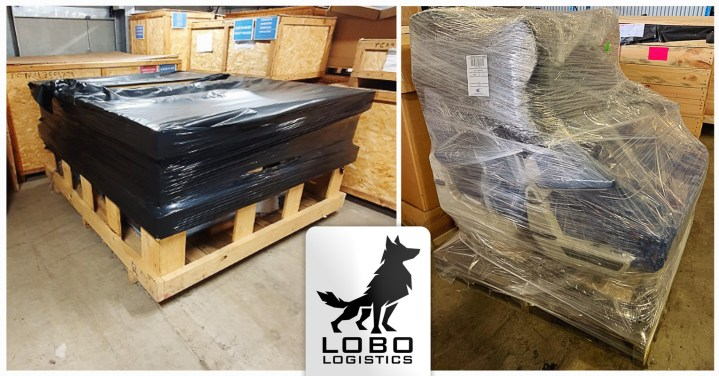 Lobo Logistics has Been Keeping Active with FCL and Small Airfreight - Here are Two Train Seats Destined for France and Some other Airfreight